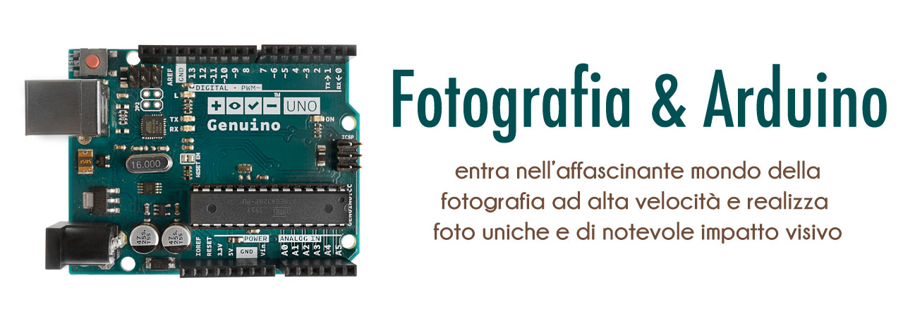 Fotografia e arduino - genuino - hight speed photography